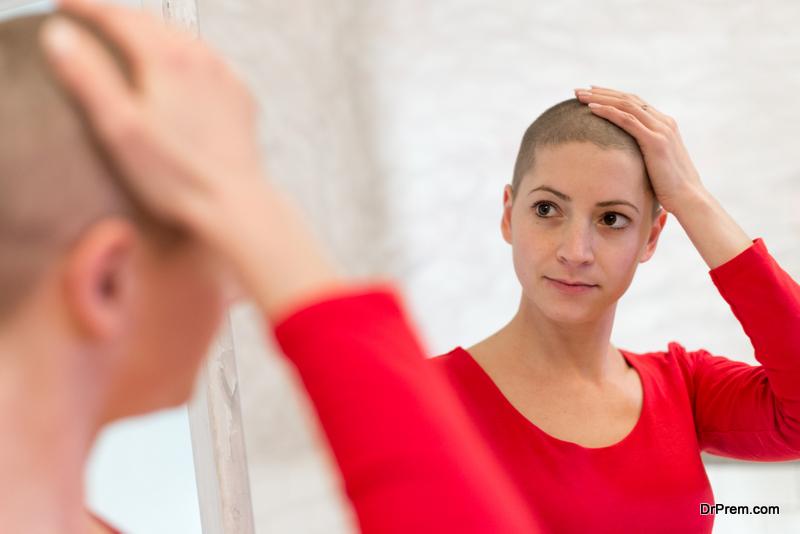 woman hair loss treatment